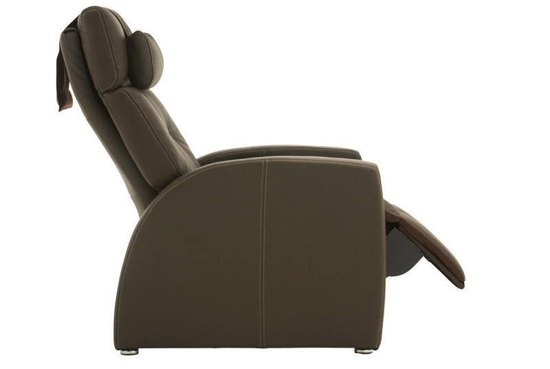 hover to zoom - Black Leather Recliner Chair
